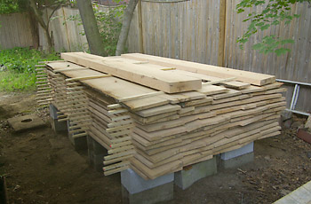 final stack of lumber